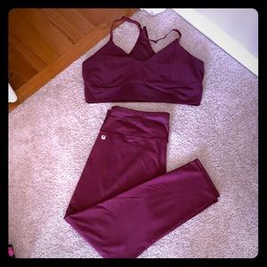 Fabletics bra and pants XXL